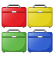 Colourful bags vector image vector image