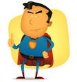 comic superman character vector image