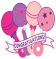 Congratulations vector image vector image