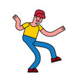 dancing guy isolated boy dances street dances vector image