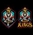 dead kings mascot vector image vector image