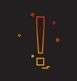 elimination alert icon design vector image vector image