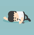 Exhausted and tired businessman sleeping vector image vector image