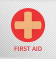 first aid sign isolated on transparent background vector image