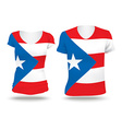 Flag shirt design of Puerto Rico vector image