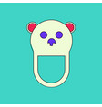 flat icon design collection teddy bear bib vector image vector image