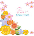 floral background template design vector image vector image