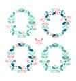 floral frame border vector image vector image