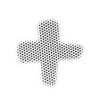 halftone dotted plus or cross sign isolated on vector image vector image