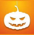 halloween pumpkin applique background vector image vector image