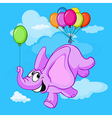 happy flying elephant cartoon vector image vector image