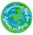 international day for biological diversity planet vector image vector image