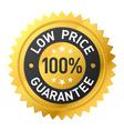 Low price guarantee sticker vector image vector image