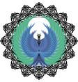 mandala phoenix vector image vector image