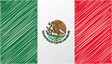 Mexico flag vector image vector image