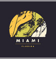 miami florida graphic t-shirt design vector image vector image