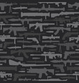military weapons seamless pattern vector image vector image