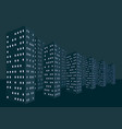 night buildings in the night city vector image vector image