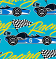 Open wheel racing car seamless pattern vector image vector image