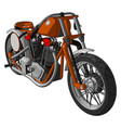 orange and grey vintage motorcycle on white vector image vector image