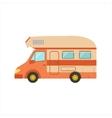 Orange Stripy Travel Van vector image vector image