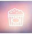 Popcorn thin line icon vector image vector image