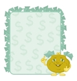 purse and poster with dollars vector image