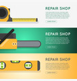 repair tool shop banner set vector image vector image