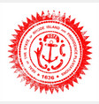 rhode island rubber stamp vector image vector image