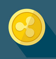 ripple icon as golden coin vector image