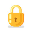 safety technology golden padlock privacy vector image