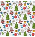 seamless Christmas patternsticker vector image vector image