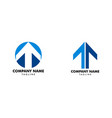 set of t letter and arrow up logo vector image vector image