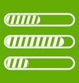 sign horizontal columns load icon green vector image vector image