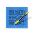 sketch QR-code vector image