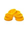 small pile of golden coins economy and finance vector image vector image