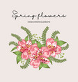 spring flowers composition hand drawn vector image vector image