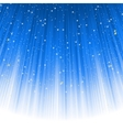 Stars descending on a path of blue light EPS 8 vector image vector image