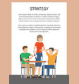 strategy workplace and team vector image
