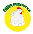 Stylized silhouette of a chicken vector image vector image