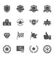 Trophy Awards solid icons vector image vector image
