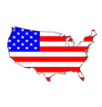 usa flag map vector image vector image