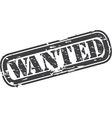 Wanted Stamp vector image vector image