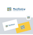 website logotype with business card template vector image vector image
