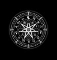 wiccan symbol of protection set of mandala witche vector image vector image