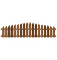 wooden fence isolated on white background vector image vector image