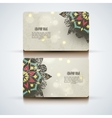 Set of abstract visit cards with indian vector image