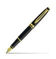 Golden fountain pen vector image