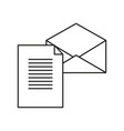 new letter envelope icon vector image