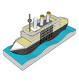 3d a sea cruiser on white background vector image vector image